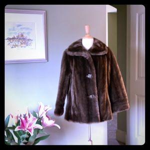 """Vintage NEVER WORN """"Mincara"""" Faux Fur Coat"""
